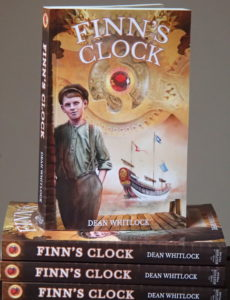 Stack of paperback edition of Finn's Clock