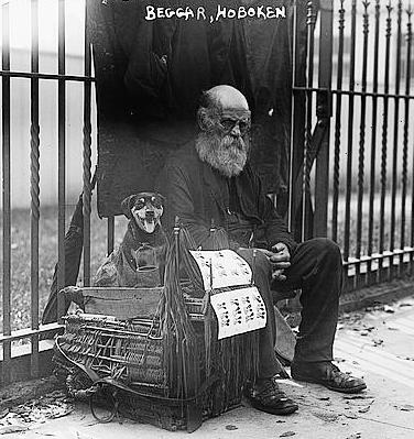 great depression beggar
